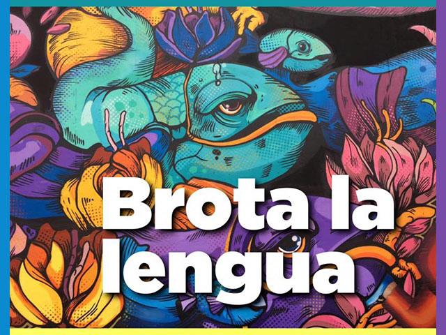 Brota la lengua, un mural que celebra la diversidad lingüística