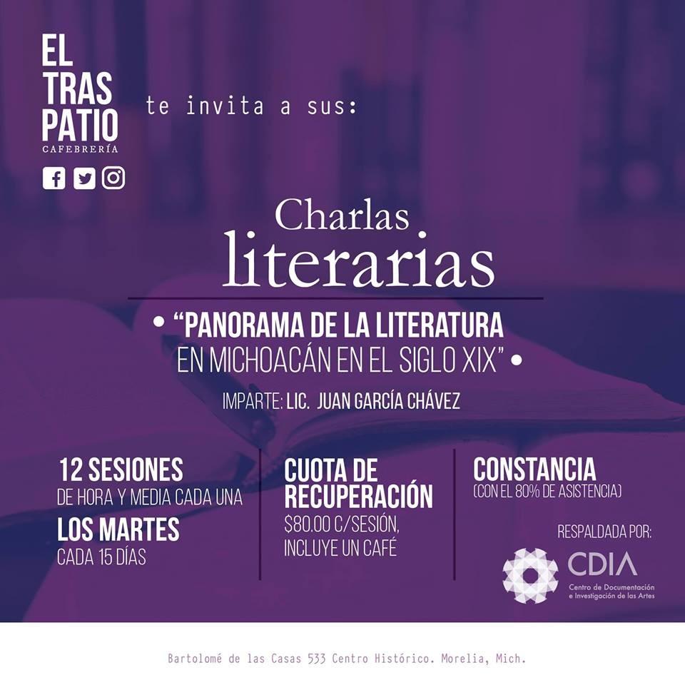 Continúan las Charlas literarias en Traspatio Librería