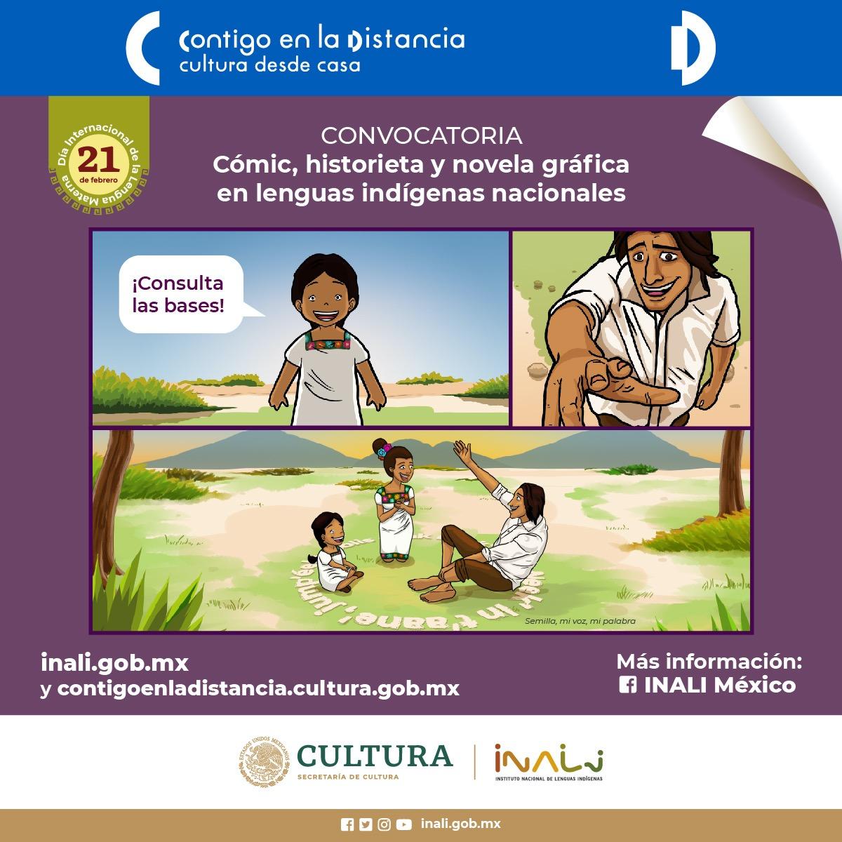 Lanzan convocatoria a historieta, novela gráfica y cómic en lenguas indígenas