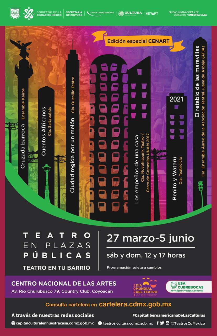 Celebra CDMX Día Internacional del Teatro con programación en línea