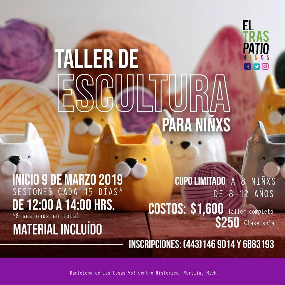 """Continúa el """"Taller sábatino de escultura para niñas y niños de 8 a 12 años"""""""