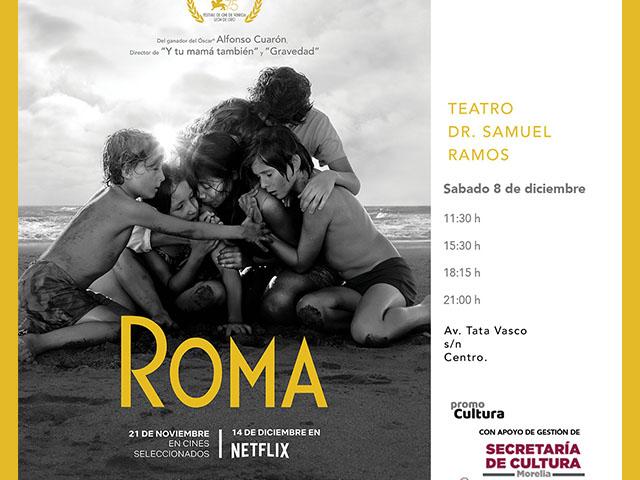 Roma, de Alfonso Cuarón, será exhibida en Morelia