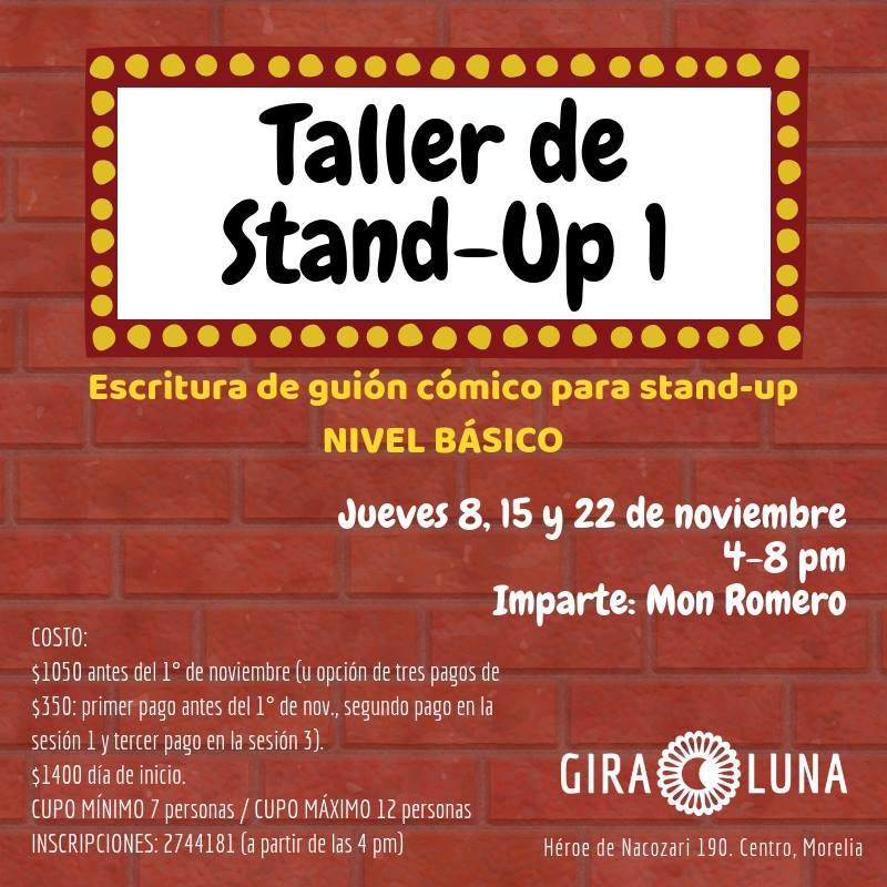 Taller de Stand-Up 1: escritura de guion cómico