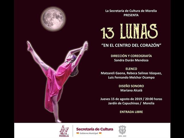 13 Lunas llegará al Jardín de Capuchinas
