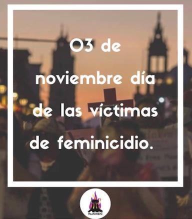 Declaran 3 de noviembre Día del luto estatal y conmemoración por todas las mujeres víctimas de feminicidio