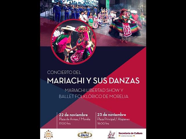 Mariachi Libertad Show y Ballet Folklórico de Morelia, se unirán para difundir tradiciones mexicanas