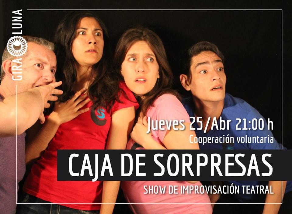 """Presentación del show de improvisación """"Caja de sorpresas"""""""