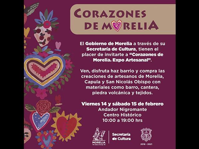 Corazones de Morelia reunirá las creaciones de los artesanos