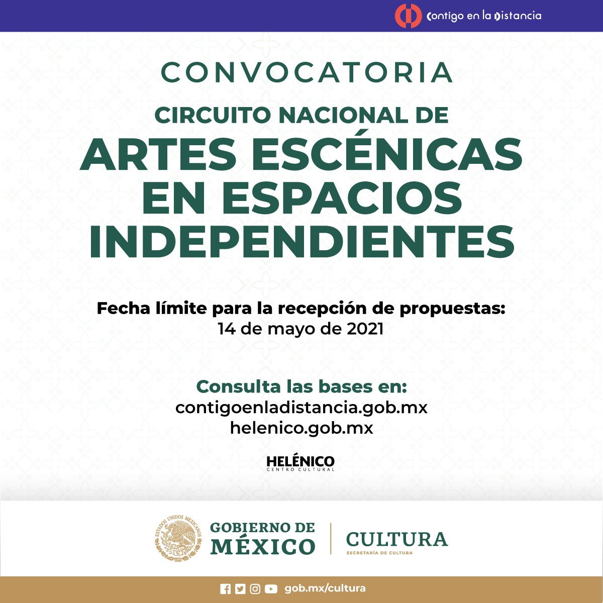Abren convocatoria: Circuito Nacional de Artes Escénicas en Espacios Independientes