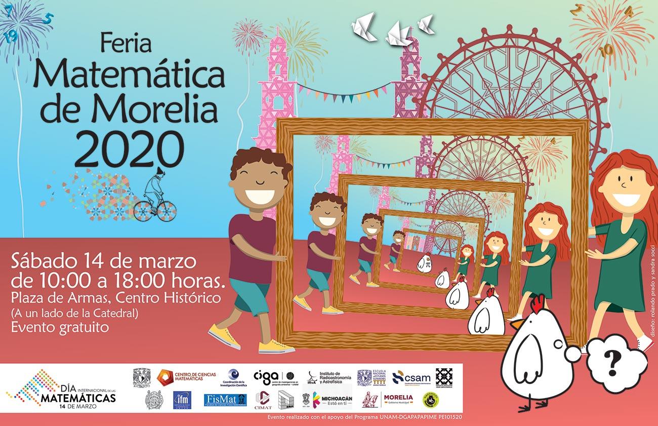 UNAM invita a la Feria Matemática de Morelia 2020