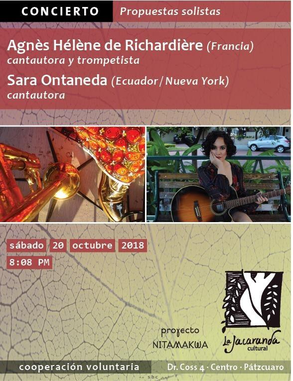 Presentación de Agnès Héléne y Sara Ontaneda