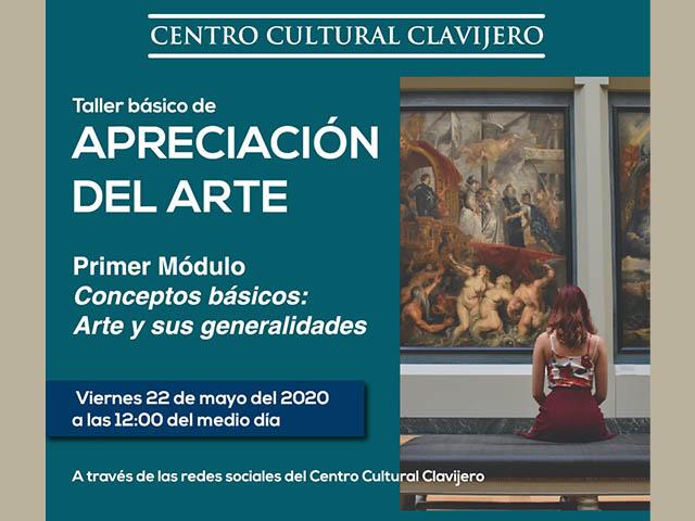 En las redes sociales de Clavijero, taller de apreciación del arte