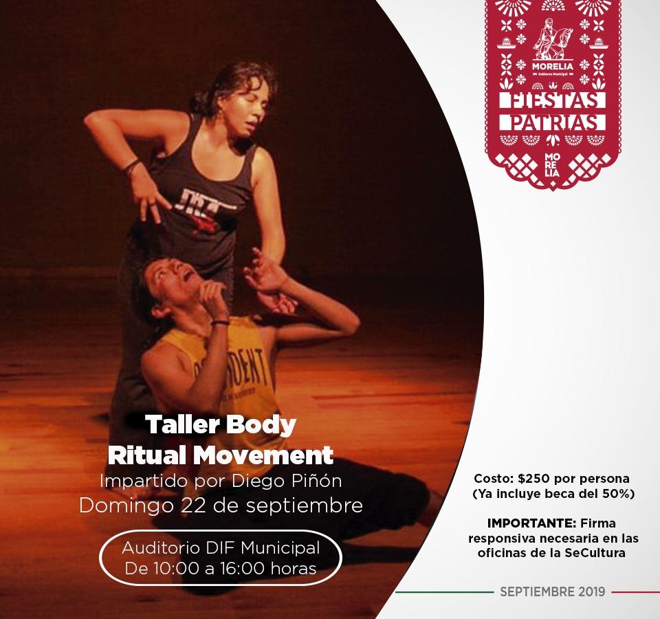Taller Body Ritual Movement, un espacio para explorar la energía y la esencia personal