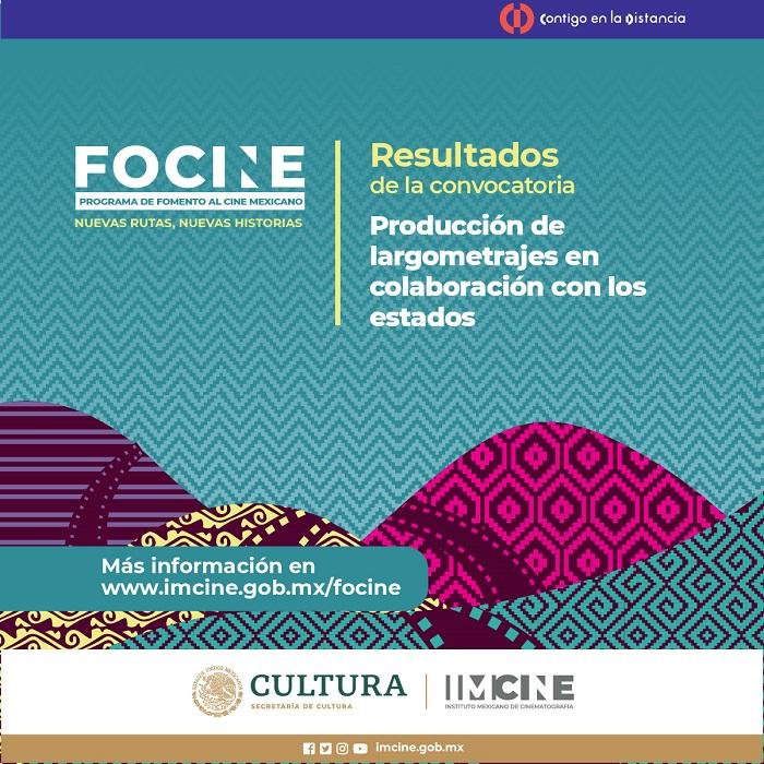 Imcine publica los primeros resultados del nuevo Programa de Fomento al Cine Mexicano