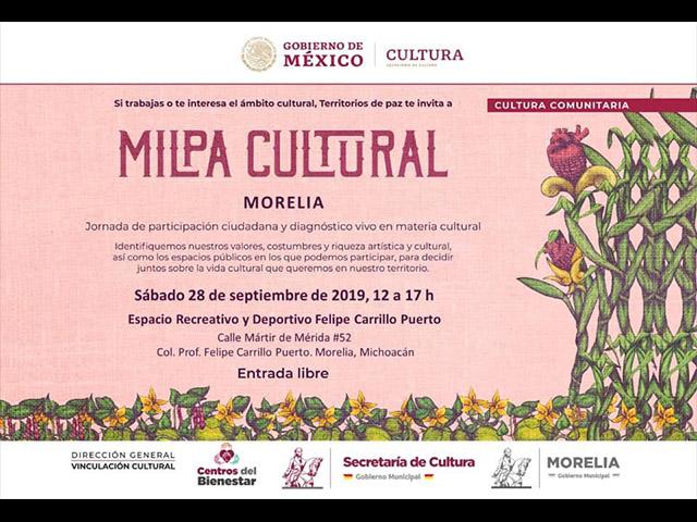Llega la Milpa Cultural a Morelia