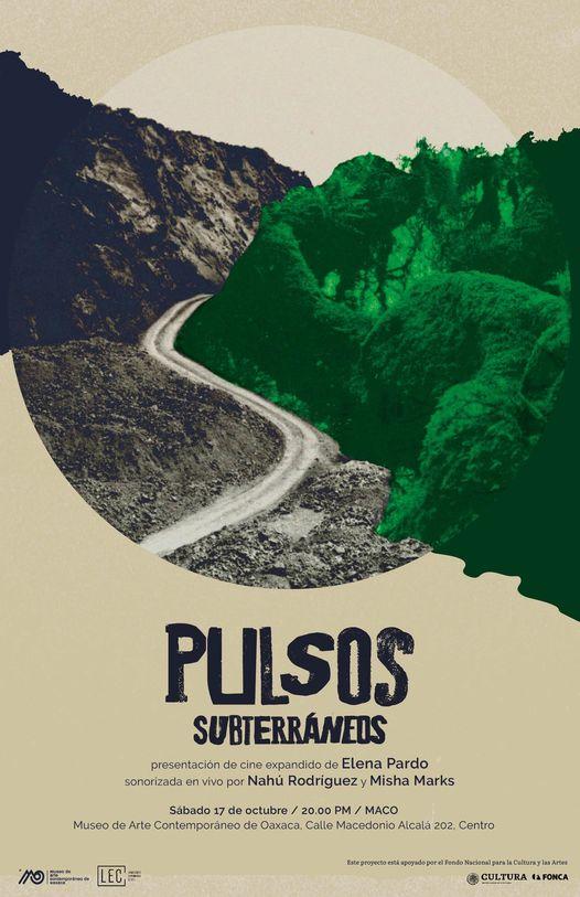 Pulsos subterráneos, una presentación de cine expandido de Elena Pardo, en el maco Oaxaca