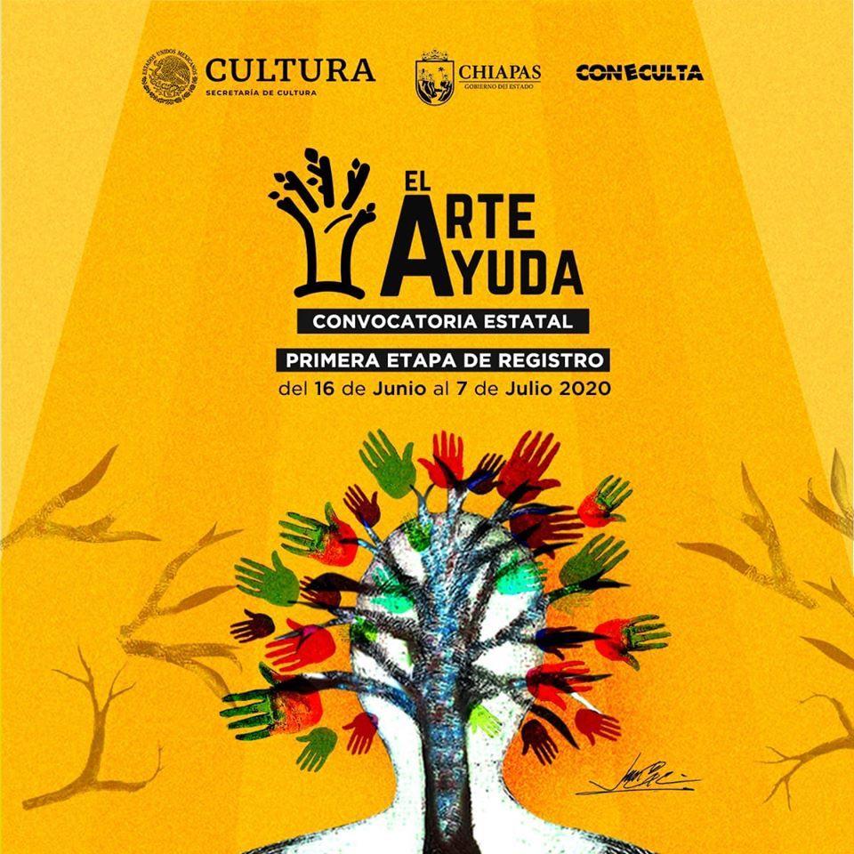 """""""El arte ayuda"""", busca apoyar a los creadores y reactivar la economía del sector cultural chiapaneco"""
