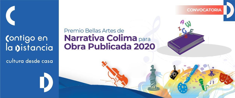 Convocan al Premio Bellas Artes de Narrativa Colima para Obra Publicada 2020