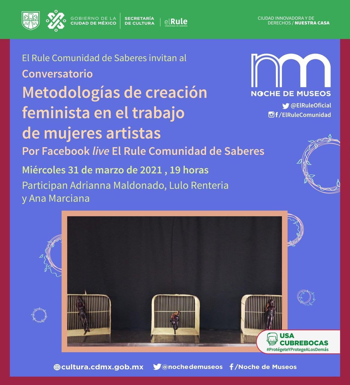Mujeres conversarán sobre metodologías de creación feminista en El Rule Comunidad de Saberes