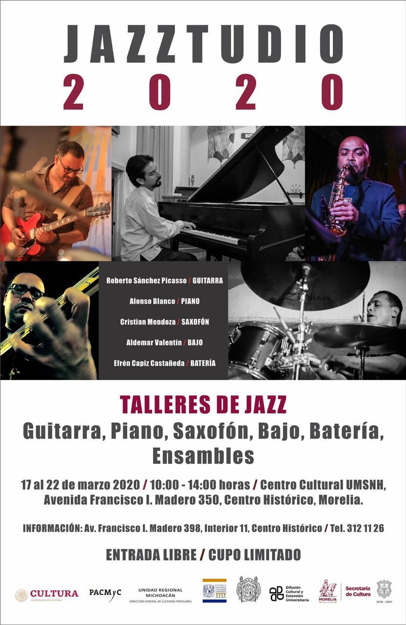 Invita SeCultura a los talleres del Jazzstudio 2020