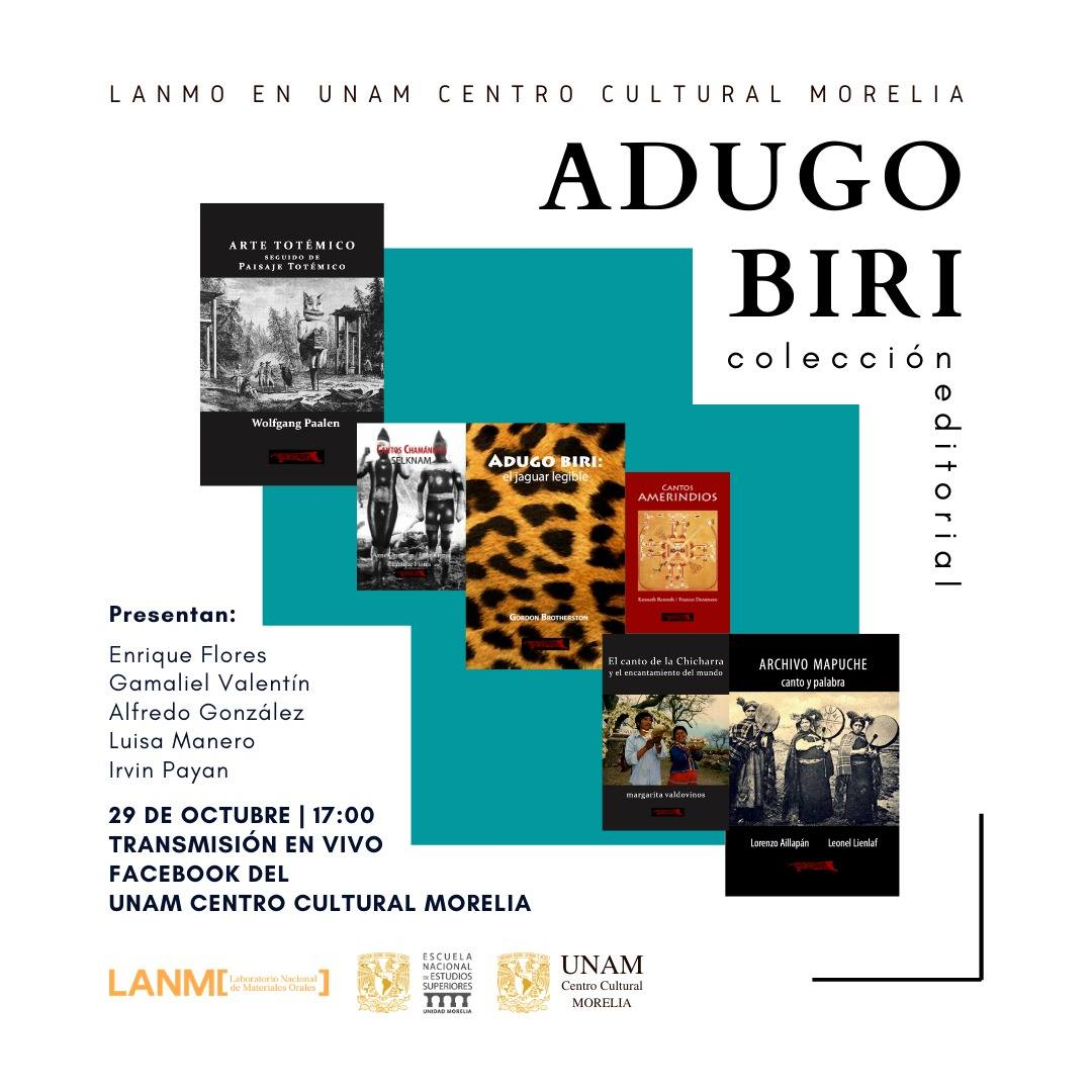 El LANMO presenta la colección editorial Adugo Biri en el Centro Cultural UNAM de Morelia