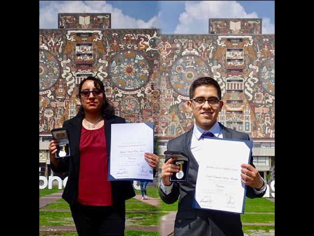 Egresados del Posgrado en Astrofísica del IRyA UNAM Campus Morelia reciben Medalla Alfonso Caso