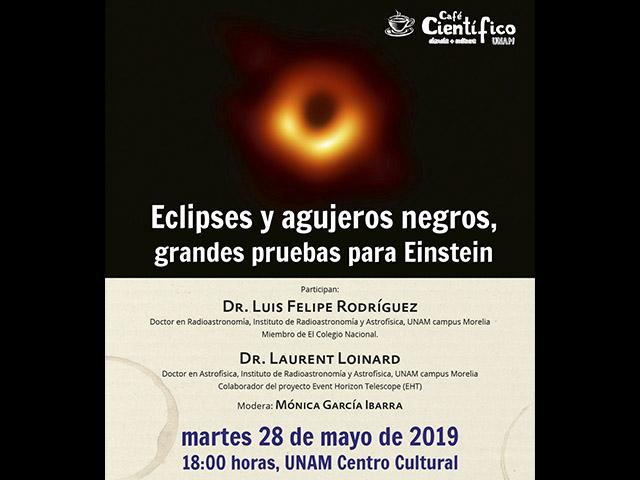 Eclipses, agujeros negros y Einstein, tema del próximo Café Científico