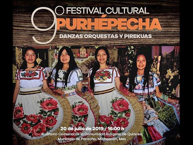 Viene el noveno Festival Cultural Purépecha