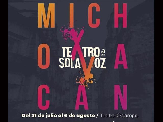 Teatro a Una Sola Voz llega a Morelia