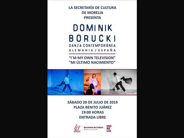 La danza del alemán Dominik Borucki llega este sábado a Morelia: SeCultura
