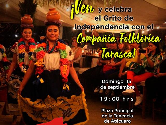 Cultura michoacana será disfrutada en Atécuaro para Grito de Independencia
