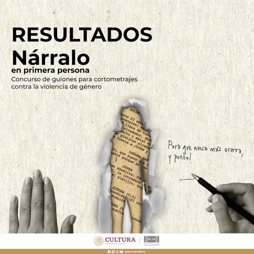 Imcine da a conocer los resultados del concurso de guiones contra la violencia de género