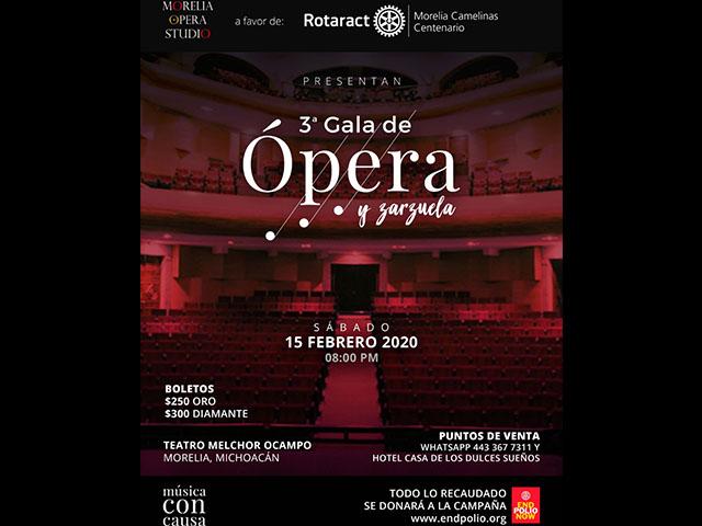 Invitan a la Gala de Ópera y Zarzuela en el Teatro Ocampo