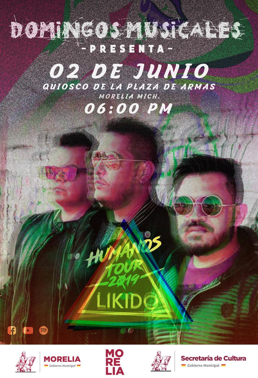 Likido, la banda de rock michoacana con mayor proyección, se presentará este domingo en Plaza de Armas