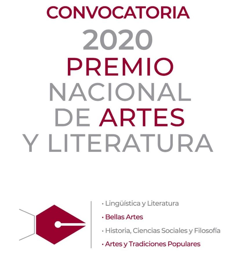 Convocan al Premio Nacional de Artes y Literatura 2020