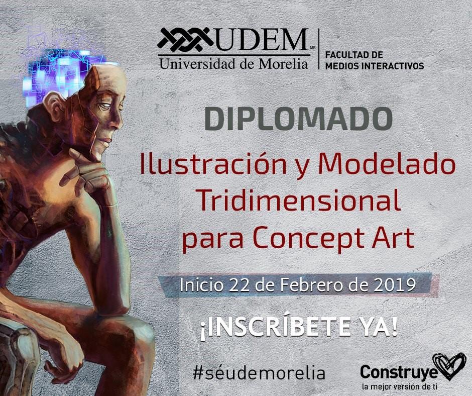 """Diplomado """"Ilustración y modelado tridimensional para concept art"""""""