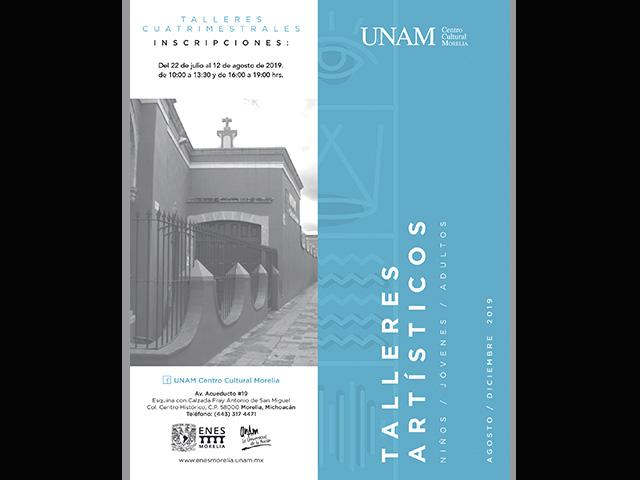 Abren inscripciones para los talleres cuatrimestrales de la UNAM Centro Cultural Morelia