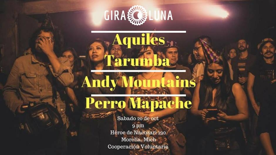 Concierto de Aquiles Tarumba, Andy Mountains y Perro Mapache