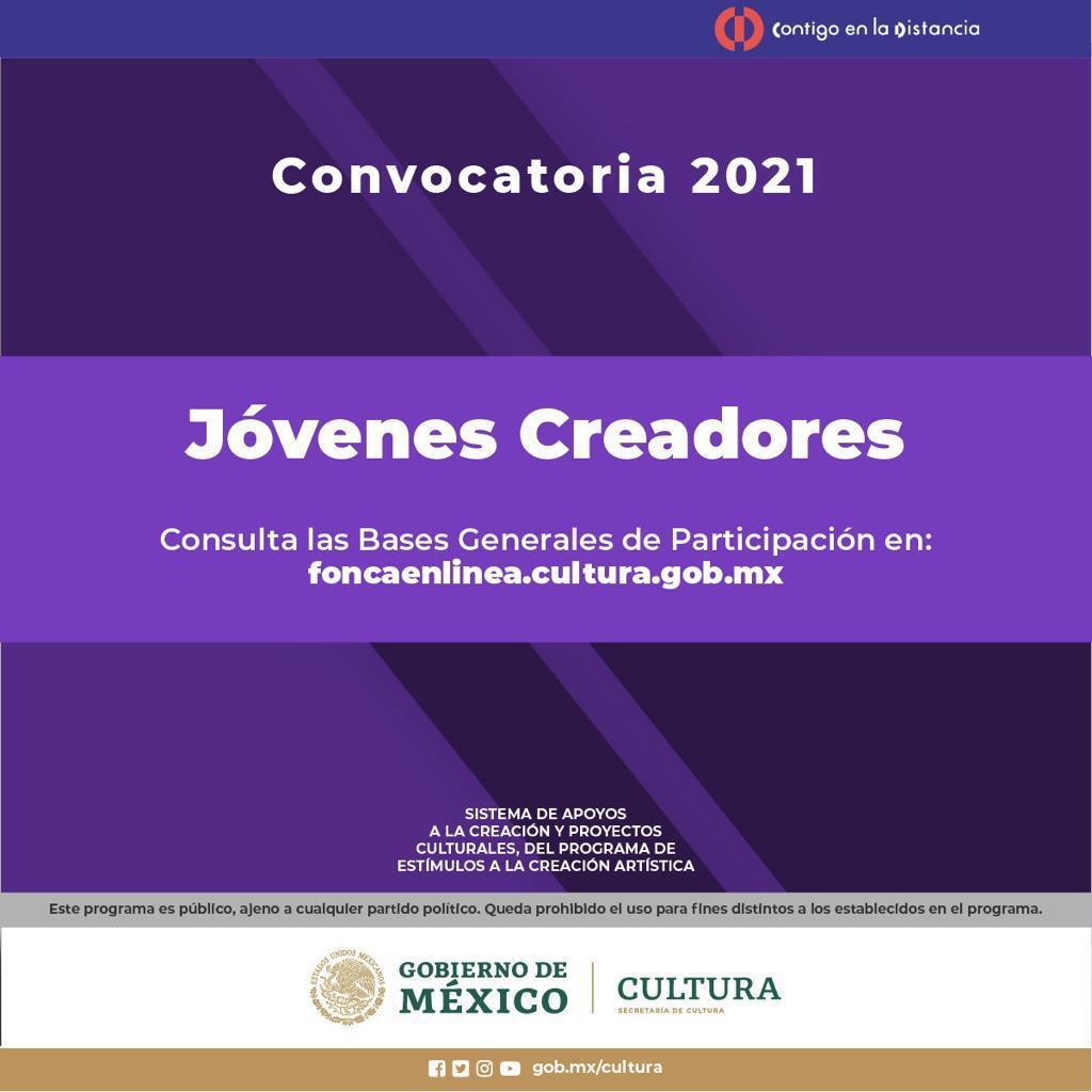 El Sistema de Apoyos a la Creación y Proyectos Culturales abre las convocatorias Jóvenes Creadores y Creadores Escénicos 2021