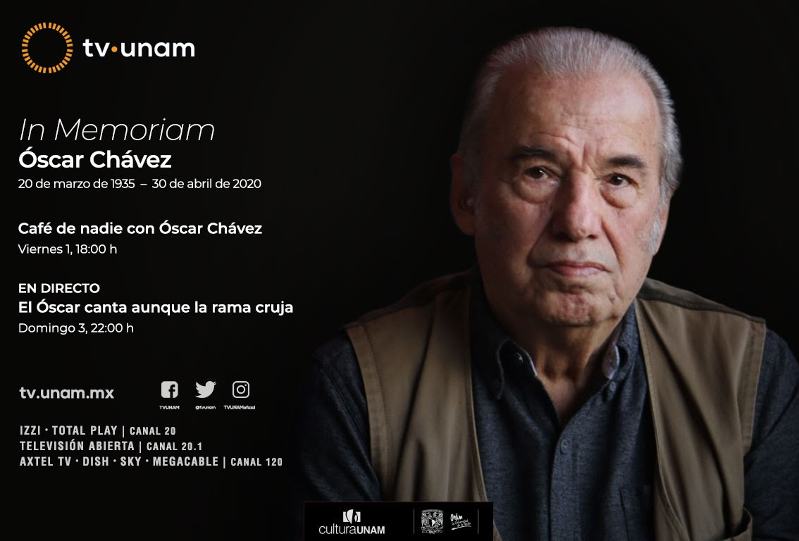 TV UNAM transmite el especial In memoriam Óscar Chávez
