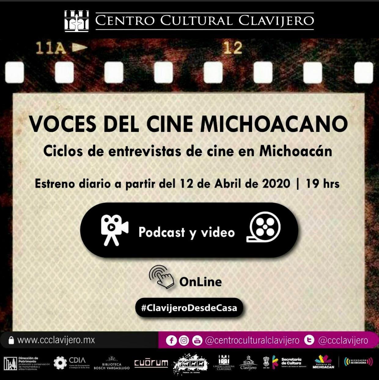 Voces del Cine Michoacano, disponible en redes sociales