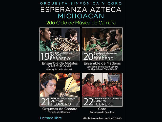 Ya viene el segundo ciclo de la Orquesta Sinfónica Esperanza Azteca Michoacán