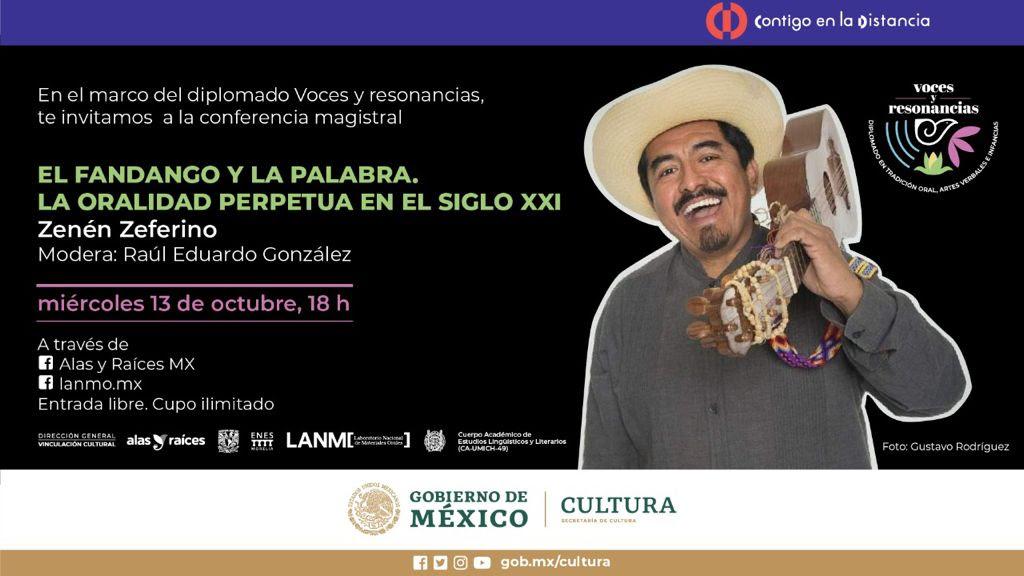 LANMO presenta conferencia El fandango y la palabra, la oralidad perpetua en el siglo XXI,