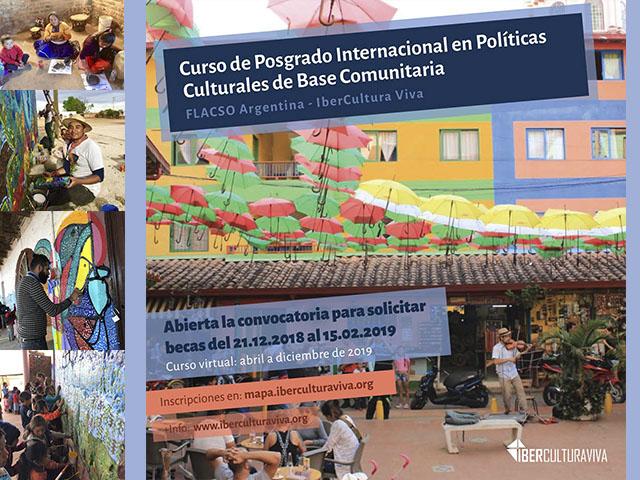 A punto de cerrar la Convocatoria para la 2ª edición del Curso de Posgrado en Políticas Culturales de Base Comunitaria