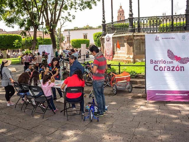 Morelianos se acercan al arte gracias a Barrio con Corazón
