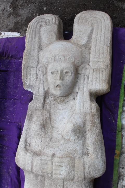 La primera escultura femenina prehispánica en su tipo es hallada en la Huasteca veracruzana