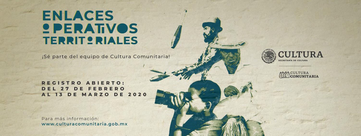 Cultura Comunitaria abre convocatoria para Enlaces Operativos Territoriales