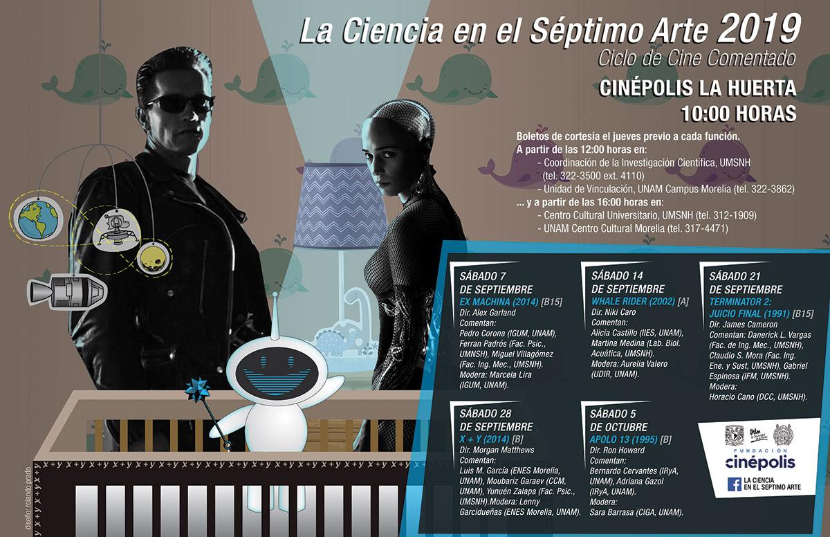 UNAM Morelia y la Universidad Michoacana anuncian el ciclo de cine La Ciencia en el Séptimo Arte 2019