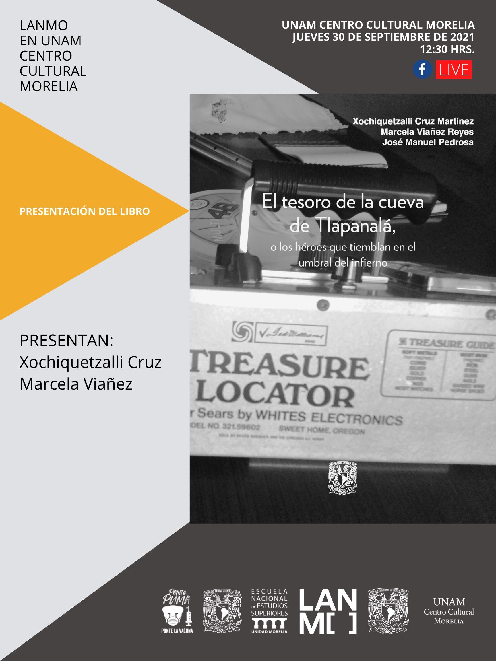 LANMO editorial presenta El Tesoro de la cueva de Tlapanalá