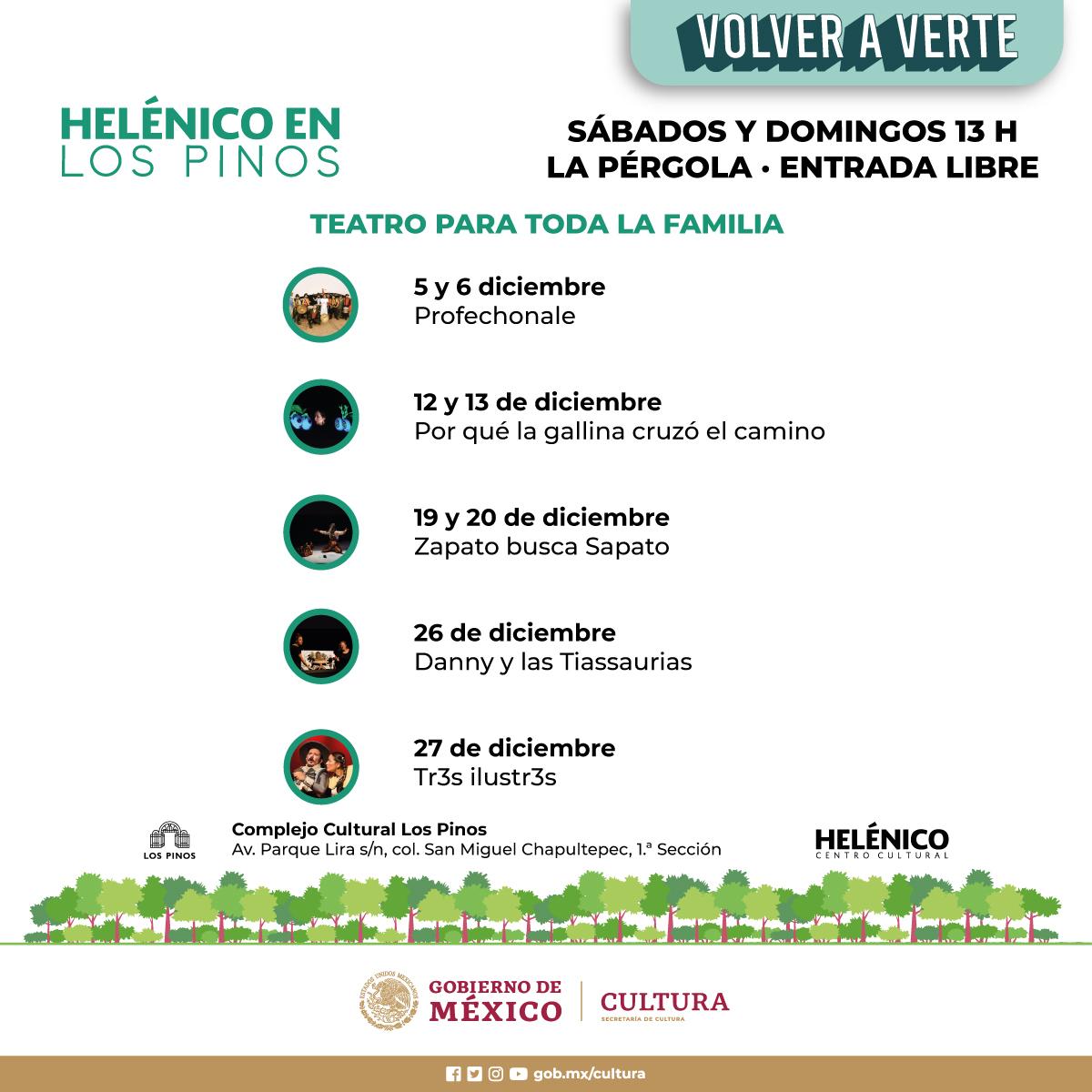 Disfrura la temporada Helénico en Los Pinos 2020